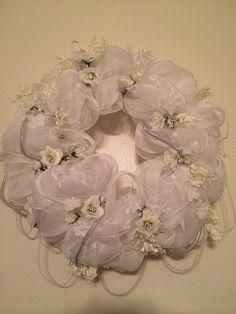 Bridal Shower Wreath, decoration, door hanger, Wedding Gift, Wedding Decor on Etsy, $134.99