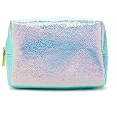 Forever21 Holographic Pebbled Makeup Bag ($6.90) ❤ liked on Polyvore featuring beauty products, beauty accessories, bags & cases, make up bag, travel toiletry case, purse makeup bag, forever 21 makeup bag and wash bag