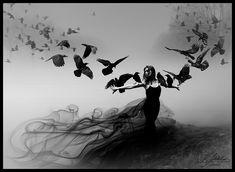 Queen of ravens by ~Milolika at deviantart