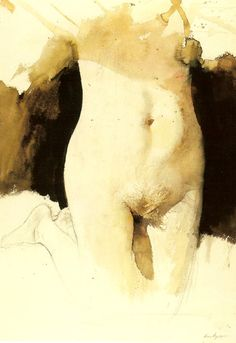 """Study for """"On Her Knees"""", Andrew Wyeth."""