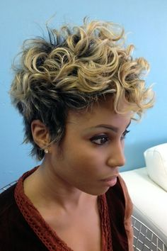 Curly Pixie Haircut - Black Women Short Hairstyles 2015