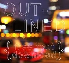 free font download: OutLined