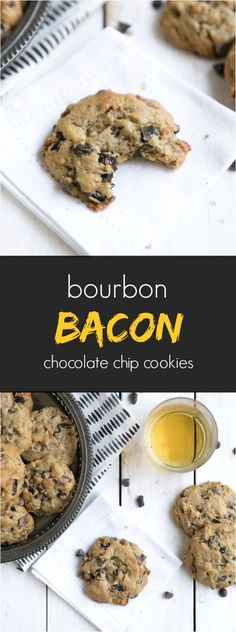 Bourbon Bacon Chocolate Chunk Cookies (perfect for dad for Father's Day :)
