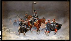German uhlans and an infantryman escorting captured French soldiers German Confederation, German Uniforms, Selling Paintings, My Family History, Second Empire, French Empire, French Army, Military Diorama