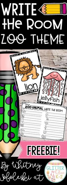 FREEBIE! This activity will make a fun addition to your literacy centers! Students will move around the room to record the words! Keywords: write the room, literacy centers, vocabulary, intervention, reading, kindergarten, first grade, center ideas, ELA, zoo theme, zoo centers, free literacy centers, animal theme