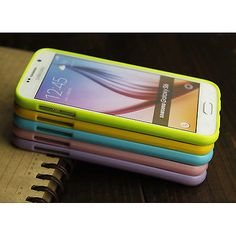 Jelly Colour Glossy Soft Silicone Gel Case Cover For Samsung Galaxy S7 S6 G9200