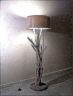 lampe pied bois