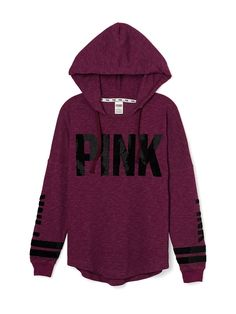 Bling Varsity Hoodie - PINK - Victoria's Secret, love the color and always wanted a PINK hoodie - A Victoria Secret Outfits, Victoria Secret Pink, Pink Outfits, Mode Outfits, Fall Outfits, Fashion Mode, Womens Fashion, Emo Fashion, Vetement Fashion