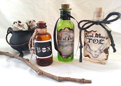 HOCUS POCUS potion poison spell bottles by beyondthepoisonapple