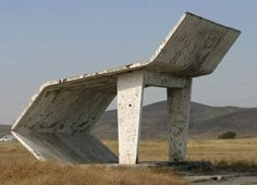 Bus stop in Kazakhstan - Photograph by Chirstopher Herwig