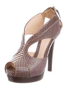 Fendi Snakeskin Cage Sandals