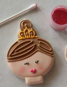 Princess Face Cookies by sweet sugerbelle