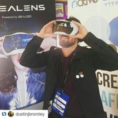 An awesome Virtual Reality pic! Did we mention we have a Virtual Reality booth inside the @nativeads train at #cimc2016 ? Well we do.. Go check it out! #idealens #virtualreality #nativeadvertising #contentmarketing #digitalmarketing #squamish #birtishcolumbia  #Repost @dustinjbromley with @repostapp ...... Officially a spaceman now #cimc2016 #idealens by nativeads check us out: http://bit.ly/1KyLetq