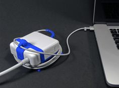MAGDOG - The Bodyguard of your MagSafe! (85w) 3d printed MAGDOG fits MagSafe 85w (3 ? x 3 ? x 1 ?). New models for MagSafe 60w and 45w, coming soon.
