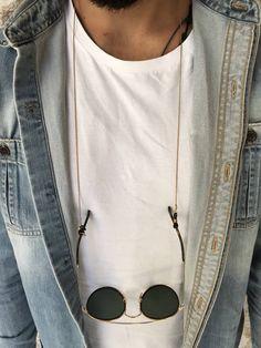 sunglasses holder Mens Glasses Chain G - sunglasses Womens Fashion Online, Latest Fashion For Women, Fashion Men, Men's Accessories, Gold Sunglasses, Sunglasses Women, Sunglasses Holder, Versace, Gold Chains For Men
