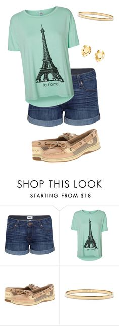"""A Day of Boating"" by smeghrian ❤ liked on Polyvore featuring Paige Denim, Vero Moda, Sperry, Kate Spade and Elsa Peretti"