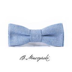 #Bowtie #linen #blue from #Brunon #Muszynski #Krakow