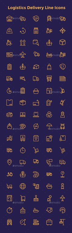 Buy Logistics Delivery Line Icons by creativestall on GraphicRiver. Today in our showcase, we're presenting some wonderfully enigmatic Logistics Delivery Line Icons. Line Design, Icon Design, Web Design, Design Art, Library Icon, Small Icons, Doodle Icon, Line Icon, Brochure Design