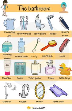 731shares Learn Bathroom Vocabulary in English through Pictures and Examples. A bathroom is a room in the home for personal hygiene …