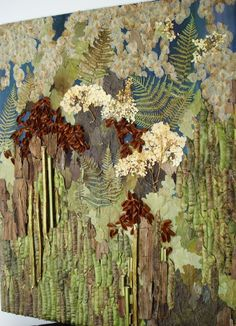 Pressed Flower Art Oshibana Mixed Media Landscape via Etsy Wal Art, Flower Wall Wedding, Fleurs Diy, Atelier D Art, Art Diy, Pressed Flower Art, New Wall, Wall Art Designs, Botanical Art
