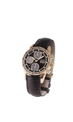 D.Side pink gold and black diamonds watch
