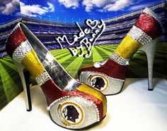Redskins Stiletto Pumps | washington redskins nfl football sp orts team heels with crystal ...