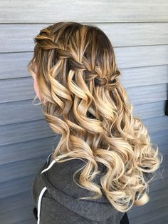 My prom hair was made by Rachelle Araujo - # prom hair . - My prom hair was made by Rachelle Araujo - Grad Hairstyles, Quince Hairstyles, Prom Hairstyles For Short Hair, Down Hairstyles, Pretty Hairstyles, Easy Hairstyles, Wedding Hairstyles, Homecoming Hairstyles Down, Cute Hairstyles With Braids