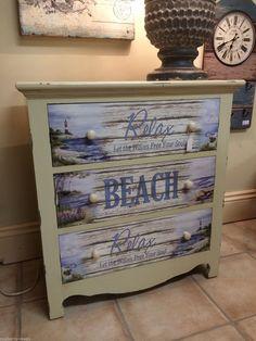 Shabby Chic Cream Wood Beach House Home Chest of Drawers Bathroom Furniture | eBay