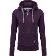 Superdry Speckle Gym Hoodie ($74) ❤ liked on Polyvore featuring tops, hoodies, sweaters, purple, women, logo hoodie, print hoodies, purple hoodie, purple hoodies and hooded zipper sweatshirts