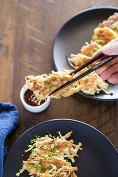 How to Make Korean enoki mushroom pancakes | MyKoreanKitchen.com