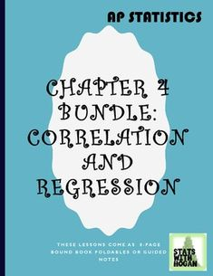 AP Statistics- Chapter 4 Bundle: Correlation and Regression Absent Students, Ap Statistics, Network Drive, Regression Analysis, Book Notes, Page Number, Flipped Classroom, Teacher Newsletter, Algebra