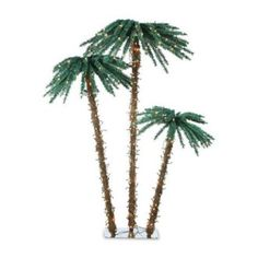 3 Piece Lighted Palm Tree Set
