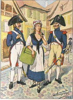 French; 3rd Cuirassiers, Sous-officier, Tenue Habituelle autorisée & Brigadier, Tenue Habituelle d'été.1804 -05.