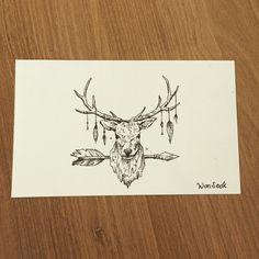 사슴 Ring Designs, Tattoo Designs, Arrow Drawing, Nature Tattoos, Black Tattoos, Deer, Body Art, Art Drawings, Moose Art
