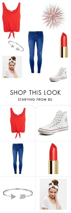 """4th of July"" by alexandra-birky ❤ liked on Polyvore featuring Splendid, Converse, Dorothy Perkins, Bling Jewelry and New Look"