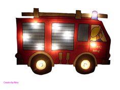 Wandlampen - Feuerwehrlampe - ein Designerstück von Creativ-by-nina bei DaWanda