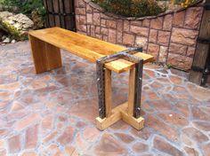 Oak loft bench