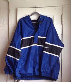 VINTAGE Blue & Black NIKE Windbreaker MEN'S SIZE XXL Quarter Zip VTG 2XL #Nike #Windbreaker