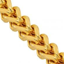 """10K Yellow Gold Mens Franco Chan 36"""" 7 mm Gold Chains For Men, Solid Gold, Diamond Necklaces, Jewels, Yellow, Gifts, Jewerly, Mens Gold Chains, Presents"""