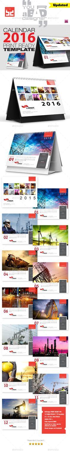 Premium Desktop Calendar 2014 - Calendars Stationery