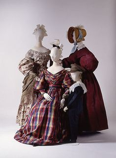Dresses mid-late 1830s Met museum