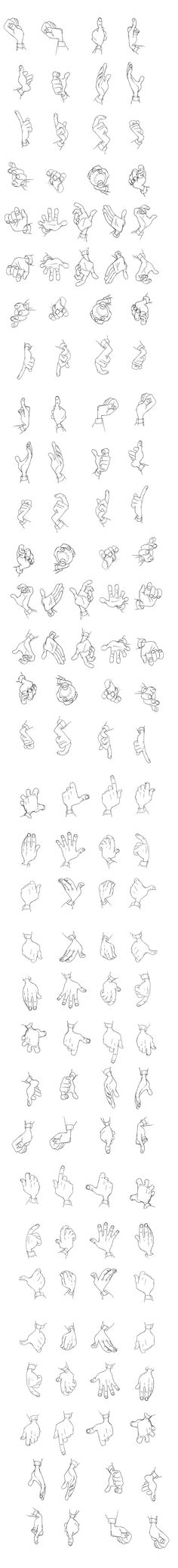 """Hogarth"" Hands Reference Sheet The Iron Giant 