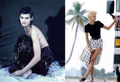 Linda Evangelista - Photographed by Peter Lindbergh, Vogue, November 01, 1989; Photographed by Marc Hispard, Vogue, May 01, 1991