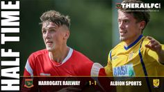 HT: Harrogate Railway 1-1 Albion Sport    @therailfc