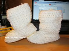 Free Crochet Slouch Boot 2-3 years Pattern