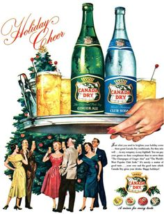imperialgoogie:  goshyesvintageads:  Canada Dry Ginger Ale Inc, 1954  They were all having such a merry time. What a shame none of them noticed the enormous drinks tray that was about to squash them all nice and flat.