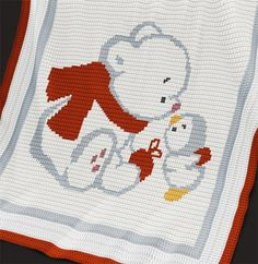 Crochet Pattern | Baby Blanket / Afghan - Bear and Penguin