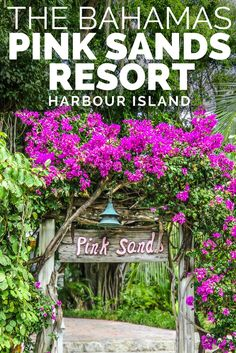 The exclusive Pink Sands Resort is the perfect hideaway for the rich and famous on Pink Sands Beach, Harbour Island Bahamas. The beautiful resort grounds, like a botanical garden, lead out onto the unique Pink Sands of the Pink Sands Beach Bahamas, considered one of the best Bahamas Beaches. Fly or sail from Nassau Bahamas for the perfect Bahamas Vacation day trip to Harbour Island, North Eleuthera. Fly from Florida to Bahamas with Bahamas Air Tours and their flights to Bahamas.