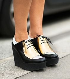 Metallic Creepers  Stay ahead of the fashion pack with a  futuristic creeper that's Harajuku street style by way of St. Marks Place punk.      Adam Katz Sinding of Le 21ème