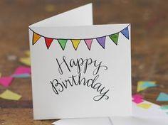 Hand Lettering Happy Birthday bunting von AliceDrawsTheLine auf Etsy